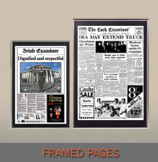 Newspaper Gifts - Framed Pages