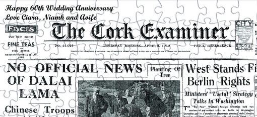 Newspaper page jigsaw puzzle